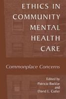 Ethics in Community Mental Health Care PDF
