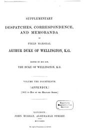 Supplementary Despatches, Correspondence, and Memoranda: Volume 14