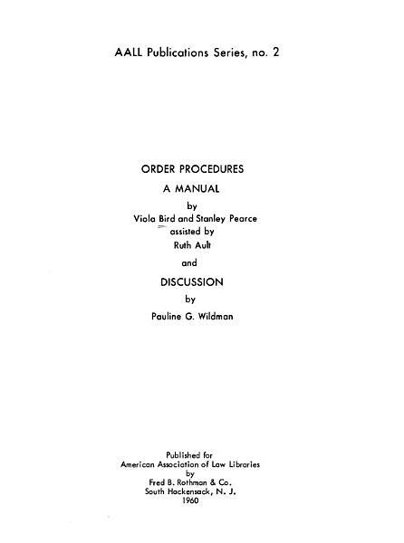 Download Order Procedures Book