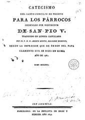 Catecismo del Santo Concilio de Trento para los párrocos: ordenado por disposición de San Pío V