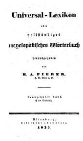 Universal-lexikon, oder Vollständiges encyclopädisches wörterbuch: Band 19