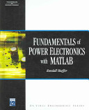 Fundamentals of Power Electronics with MATLAB PDF