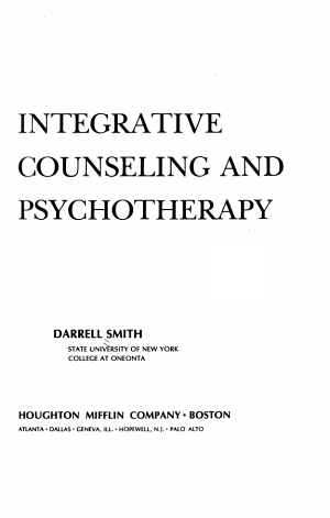 Integrative Counseling and Psychotherapy