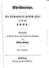 Christoterpe: ein Jahrbuch für d. dt. Haus
