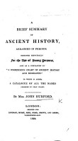 A Brief Summary of Ancient History  Arranged in Periods PDF