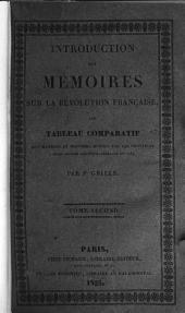 Introduction aux mémoires sur la révolution française: ou Tableau comparatif des mandats et pouvoirs donnés par les provinces à leurs députés aux États-généraux de 1789, Volume2