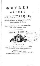 Oeuvres mêlées de Plutarque
