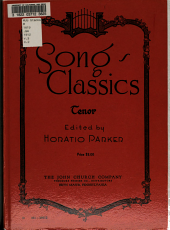 German, French, and Italian song classics: Volume 3