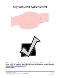 Requirement For Consent Form 05 003 Book PDF