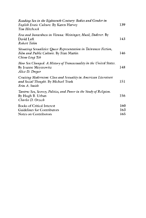 Journal of the History of Sexuality PDF