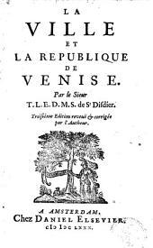 La ville et la république de Venise