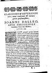 De usu Patrum ad ea definienda religionis capita quae sunt hodie controversa, libri 2
