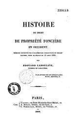 Histoire du droit de propriété foncière en Occident