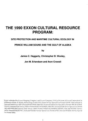 The 1990 Exxon Cultural Resource Program