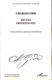 Charles Gide: Revues protestantes -, Volume 8