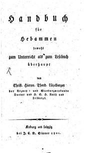 Handbuch für Hebammen ...