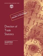 Direction of Trade Statistics Quarterly - March 2010