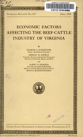 Economic factors affecting the beef-cattle industry of Virginia