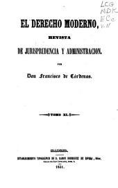 El Derecho moderno: Revista de jurisprudencia y administración, Volumen 11
