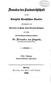 Annalen der landwirtschaft in den Königlich Preussischen staaten ...: Band 2
