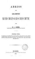 Abriss der gesamten Kirchengeschichte   With  Erg  nzungsheft  von G  Koffmane PDF