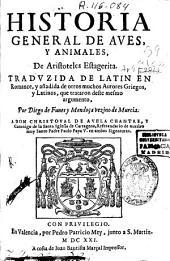 Historia general de aves y animales ...