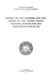 Report of the United States National Museum ...