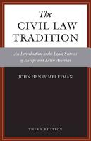 The Civil Law Tradition PDF