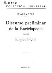 Discurso preliminar de la Enciclopedia: filosofia