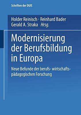 Modernisierung der Berufsbildung in Europa PDF
