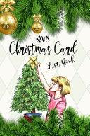 My Christmas Card List Book