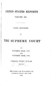 United States Reports: Cases Adjudged in the Supreme Court, Volume 195