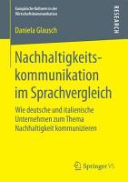 Nachhaltigkeitskommunikation im Sprachvergleich PDF