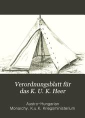 Verordnungsblatt für das k. u. k. Heer: Normal-Verodnungen, Band 35