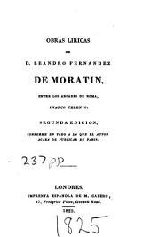 Obras liricas de D. Leandro Fernandez de Moratin, entre los arcades de Roma, inarco celenio