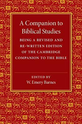 A Companion to Biblical Studies PDF