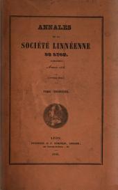 Annales de la Société linnéen de Lyon: Volume3