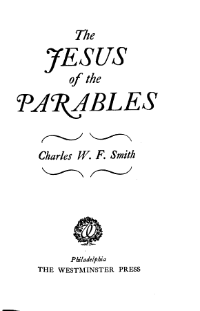 The Jesus of the Parables PDF