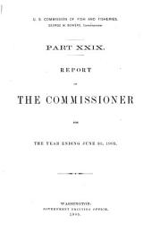 Report of the Commissioner for ...: Volume 29