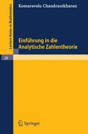 Einf  hrung in die Analytische Zahlentheorie PDF