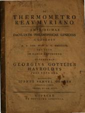 De thermometro Reaumuriano