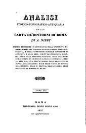 Analisi storico-topografico-antiquaria della carta de' dintorni di Roma: Volume 3