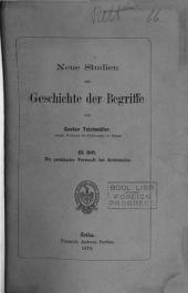 Neue Studien zur Geschichte der Begriffe: Volume 2