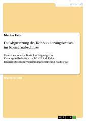 Die Abgrenzung des Konsolidierungskreises im Konzernabschluss: Unter besonderer Berücksichtigung von Zweckgesellschaften nach HGB i. d. F. des Bilanzrechtsmodernisierungsgesetzes und nach IFRS