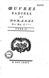 Oeuvres badines et morales de M*** [Jacques Cazotte].