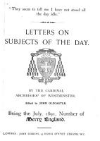 Letters on Subjects of the Day PDF