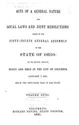 Acts Of The State Of Ohio Book PDF