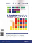 A Problem Solving Approach to Mathematics for Elementary School Teachers  Books a la Carte Edition Plus NEW MyMathLab with Pearson EText    Access Card Package