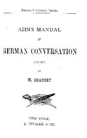 Ahn's Manual of German Conversation