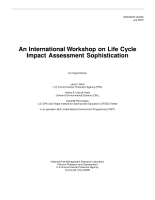 An international workshop on life cycle impact assessment sophistication PDF